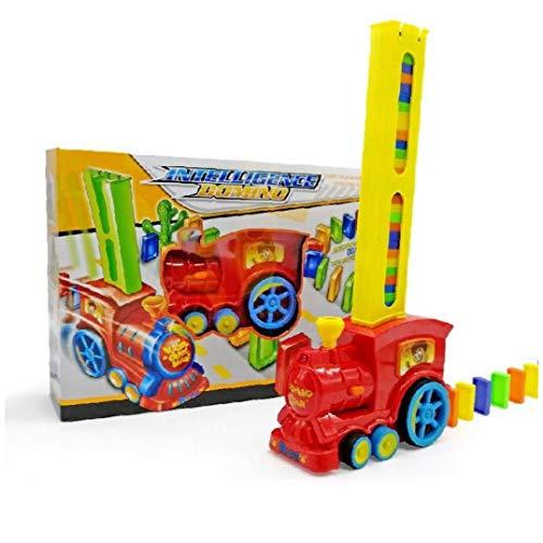 Zonfer Tren De Los Niños De Inteligencia Domino Tren Eléctrico con Acustóptica Péndulo Ajedrez Automático De Plástico De Colores Domino Juguete (Color Azar)