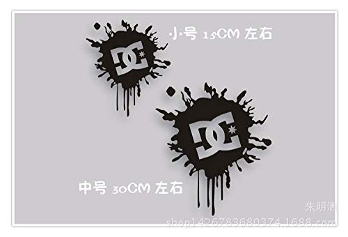 Zyunran Auto-Aufkleber Reflektierende Auto Aufkleber-Logo Auto Aufkleber Dcshoecousa Reflektierende Auto Aufkleber Dc Logo Auto Aufkleber - rot Benötigen Sie Größe kontaktieren Sie Mich