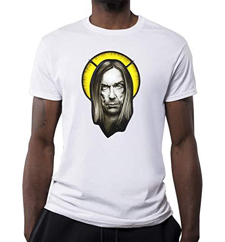 Beroemde Punk Artiest Saint Artwork T-shirt voor heren