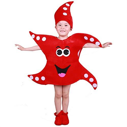 Traje verduras frutas niños Fiesta infantil Fiesta de Cosplay para niños Halloween Navidad Vacaciones Niños Niñas (estrellas de mar