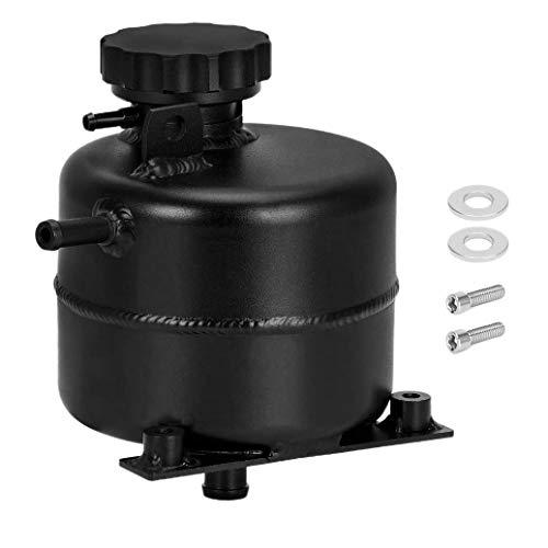 Sundey Tanque de ExpansióN de Desbordamiento de Agua de Refrigerante del Radiador de Aluminio para S R52 R53 Negro