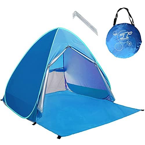 Neuf avec Fermeture à glissière Porte Pop Up Portable Tente de Plage Extérieur Anti UV Plage...