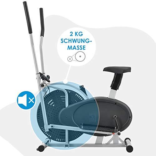 ArtSport 2in1 Crosstrainer & Heimtrainer leiser Ellipsentrainer Ergometer - 3