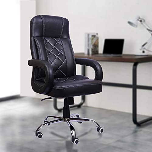 beAAtho JS-2 Executive High Back Revolving Office/Director/Gaming Chair (Black).