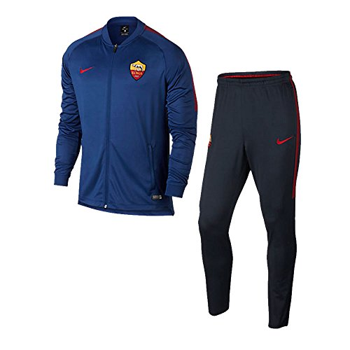 Nike 2017-2018 AS Roma Dry Squad Tracksuit (Dark Obsidian)