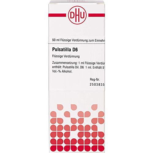 DHU Pulsatilla D6 Dilution, 50 ml Lösung