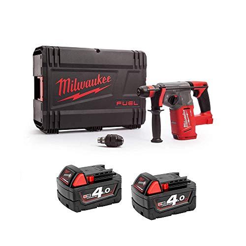 Milwaukee M18CHX-0 M18 Fuel SDS+ Hammer Drill 2 x 4Ah M18B4 Batteries, Case