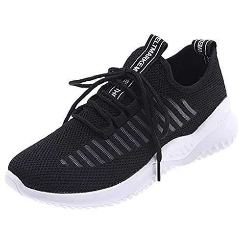 Damen Casual Hohl Schuhe,Student Laufschuhe Flying Weaving Socks Schuhe Sneaker Outdoor Athletisch SportlichTrainingsschuhe-Joggingschuhe URIBAKY