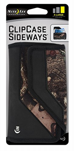 Nite Ize Clip Case Sideways Phone Holster - Protective, Clippable Phone Holder for Your Belt Or Waistband - Extra Large - Mossy Oak