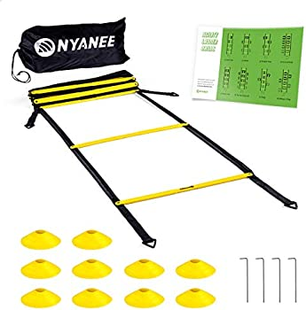 Nyanee Tangle-Free Speed and Agility Ladder Training Set