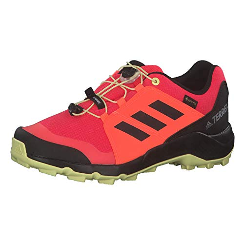 adidas Unisex-Kinder Terrex GTX K Traillaufschuh, Shock Red/Core Black/Yellow Tint, 32 EU