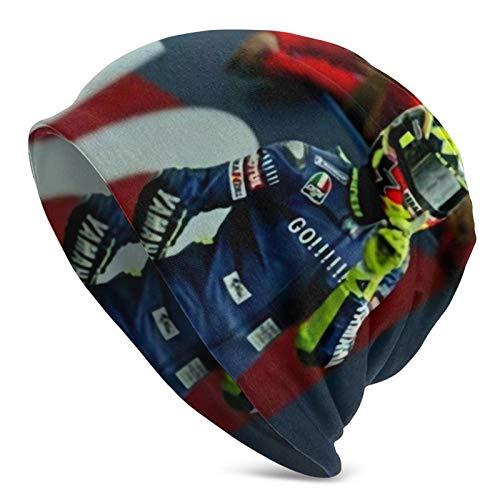 Valentino Rossi - Gorro de invierno para hombre y mujer, de punto, forro polar, térmico, resistente al viento