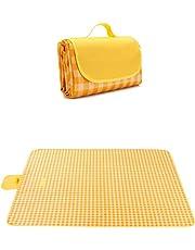 7WUNDERBAR Picknickkleed 200 x 200 cm stranddeken picknickmat campingdeken strandmat buiten waterdicht, zandafstotend met handvat, wasbaar in de machine voor picknick, wandelen, kamperen