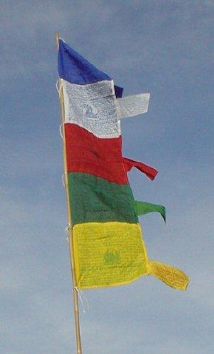 GURU SHOP Gebetsflagge (Tibet), Viskose, 160x45 cm, Gebetsfahnen