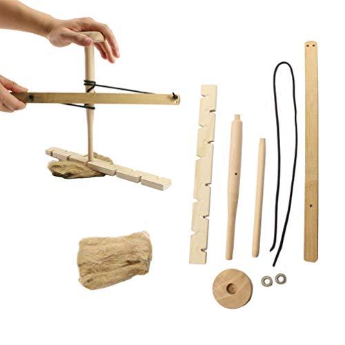 Fire Bow Drill Survival Kit, Survival Practice Nützlich Tragbar Langlebig Einfach zu Verwendender Feuerstarter für das Outdoor-Training