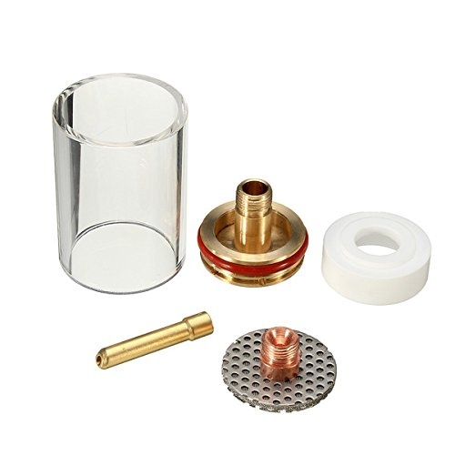 Hitommy 5 Stks 3/32 Inch Tig Lassen Fakkel Cup Champagne Nozzle Kit Voor Wp17/18/26 Serie