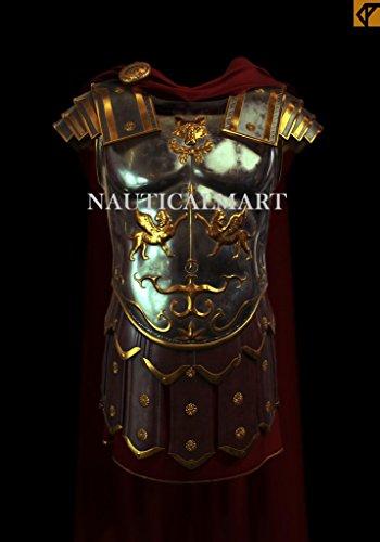 Nautical.Mart Armadura Medieval Antigua Griega Romano con Traje de Cinturón Romano, para Halloween