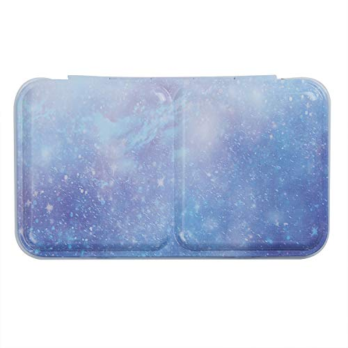 MEEDEN Empty Watercolor Tins Box Palette Paint Case, Small Blue Tin, Will Hold 12 Half Pans or 6 Full Pans