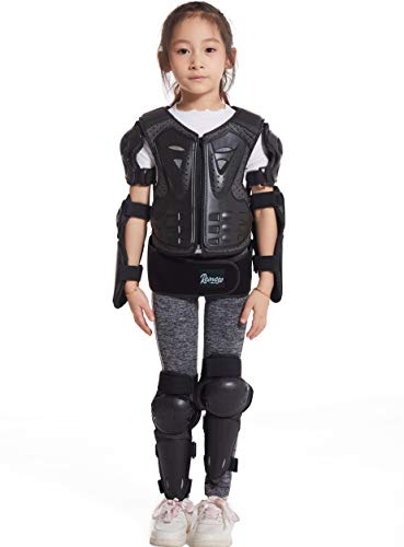 Reomoto Kids Dirt Bike Full Body Protector Youth,Motorcycle Riding Jacket Knee Elbow Protectors Chest Back Spine Guard for Snowboarding Off-Road Cycling Skiing Motorbike Motocross