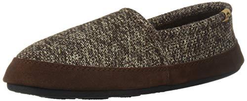 Acorn Men's Moc Slippers, Brown Tweed, 9-10