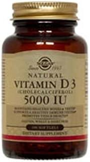 Vitamin D3 (Cholecalciferol), 5000 IU, 100 S Gels by Solgar (Pack of 2)