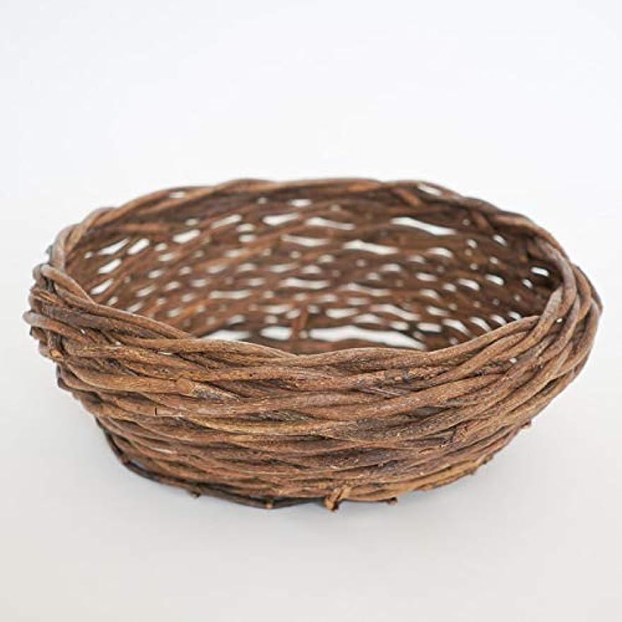 まっすぐ植物学祈るmicia luxury(ミシアラグジュアリー) ニューボーンフォト 撮影用 赤ちゃんカゴ バスケット 柳 直径38-45cm×高さ16cm