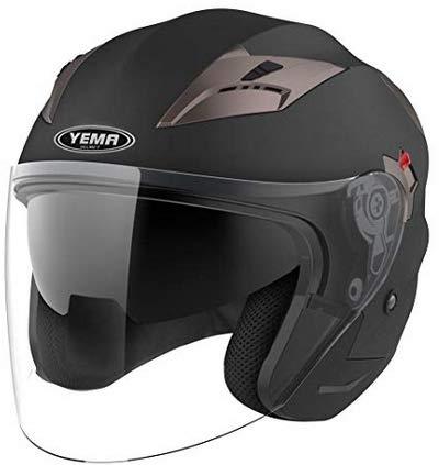 Casco De Moto Custom Homologado  marca YEMA Helmet
