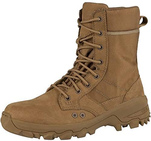 5.11 Men's Speed 3.0 Jungle Tactical Boot Military & Tactical, Equipped with OrthoLite Insoles and Fence-climbing Toes, Dark Coyote, 8 M US