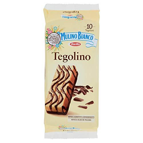 Mulino Bianco Tegolini al Cacao con Crema al Latte, Snack Dolce per la Merenda, 350 gr