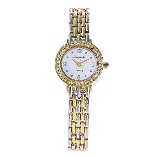 HWCOO Chaoyada Watch Fashion Women's Watch Alloy Ladies Watch Ladies Diamond Quartz Watch (Color : 3)
