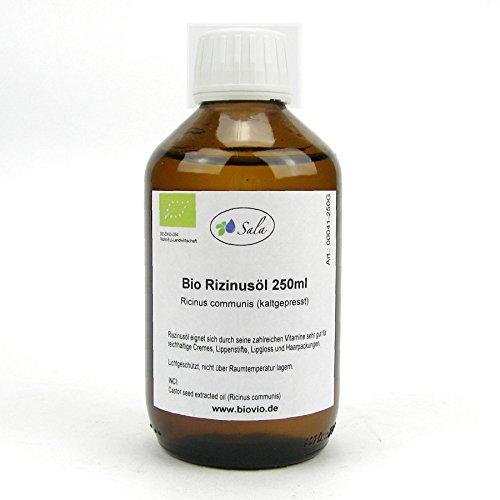 Sala Rizinusöl kaltgepresst bio 250 ml Glasflasche
