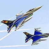 Xiaolizi Avión de Control Remoto, Modelo RC Airplane Modelo F-16 105mm Foam Turbo Fighter Modelo...