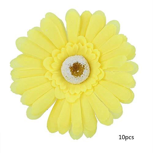 Presente DiferenteFlor Falsa, Coroa de Plástico Artificial, Cor Opcional Vívido Maravilhoso Trabalho Delicado e Durável para Banquetes de Família de Coroa Decorativa DIY(Amarelo (10 flores)) [Audio C