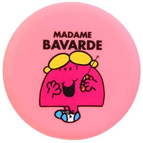 Les Trésors De Lily [Q9334] - Miroir de poche 'Monsieur Madame' rose (Madame Bavarde) - 7.8 cm