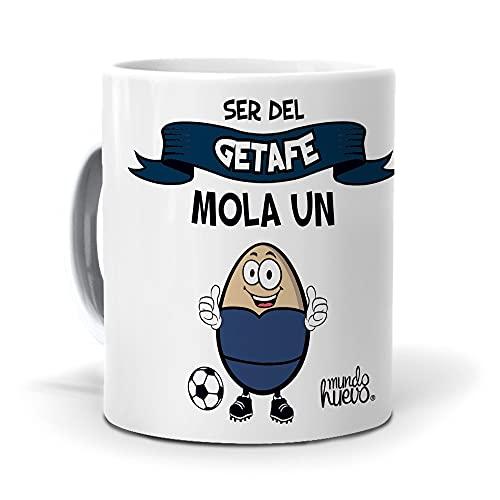 Taza Ser del Getafe Mola un Huevo. Cerámica AAA - 350 ml.