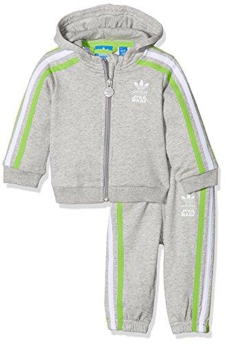 adidas Kinder Star Wars Yoda Trainingsanzug Kleinkinder Anzüge & Bodies, grau/grün, 68