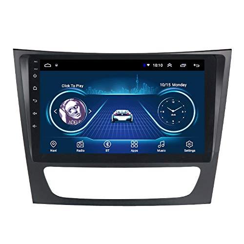 Kilcvt Reproductor EstéReo De NavegacióN GPS para Coche con Android 10 De 9 Pulgadas, para 2001-2010 Benz Clase E W211/ CLS W219/ CLK W209/ Clase G W463 Soporte Control del Volante/TV,WiFi: 2 32g