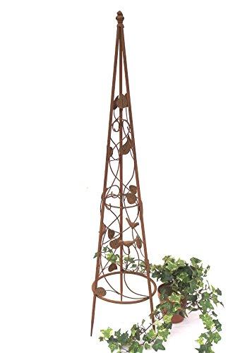 DanDiBo Rankhilfe Pyramide 082547 aus Metall 95 cm bis164 cm Kletterhilfe Rankgerüst Ranke (S - 95 cm)