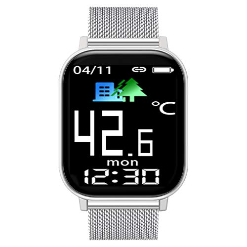 BNMY Smartwatch, Fitnessuhr 1,54 Zoll Touch-Farbdisplay Fitness Armbanduhr Fitness Tracker Mit Temperaturmessung Herzfrequenz Schlafmonitor Sportuhr Smart Watch Für Damen Herren,A