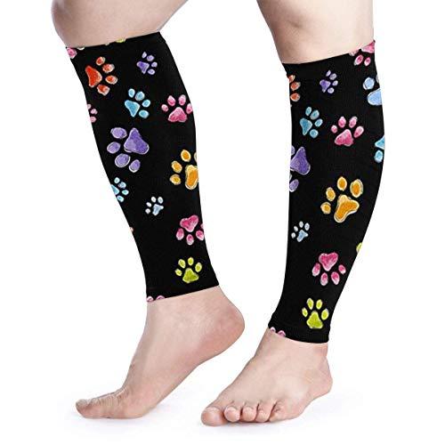 YudoHong Dog Gone Pawful Paws Compression Calf Sleeves for Men & Women (Pair) Leg Socks Cover for Shin Splints Leg Pain Running Hiking Cycling Football Walking & Athletic