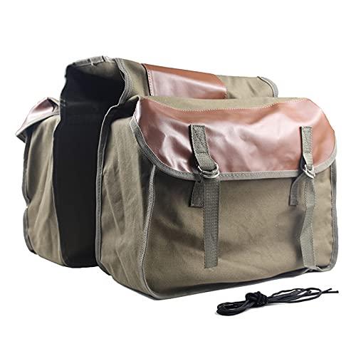 Bolsa de rejilla trasera universal de doble lado para bicicleta 2 en 1 bolsas de maletero para motocicleta, montaña, carretera, ciclismo, asiento trasero, paquete de equipaje, portaequipajes(Color:br
