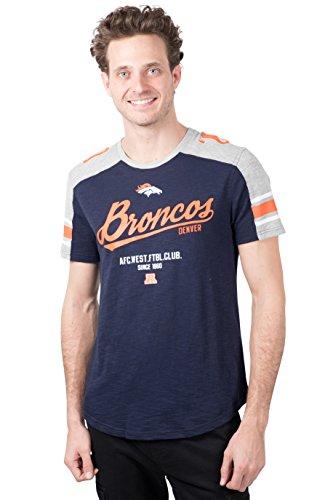 Ultra Game NFL Denver Broncos Mens Active Crew Neck Jersey Tee Shirt, Team Color, Large