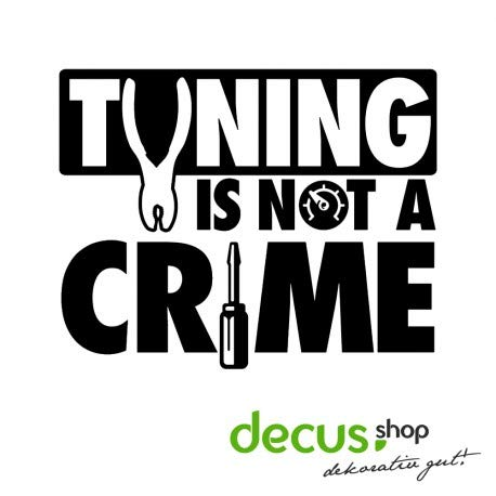 Decus Tuning is not a Crime // Sticker OEM JDM Style Aufkleber