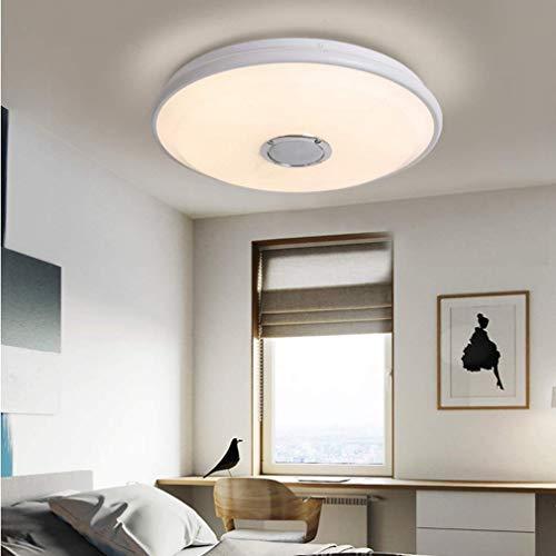 XIAOJUAN/Hermosa decoración: 256 RGB Color Luz de techo LED Dimmable, lámpara de techo 36W con aplicación y control remoto, altavoz de música Bluetooth, luces de atenuación para la iluminación de tec