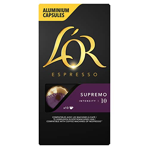 L'Or Espresso Café - 100 Capsules Supremo Intensité 10 - compatibles Nespresso®* (lot de 10 x 10)