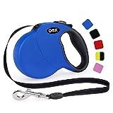 DDOXX Correa Extensible Perro, Reflectante, Retráctil | Muchos Colores & Tamaños | para Perros Pequeño, Mediano y Grande | Accesorios Gato Cachorro | S, 4 m, 10 kg, Azul