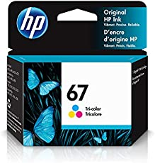 HP 67 | Ink Cartridge | Works with HP ENVY 6000 Series, HP ENVY Pro 6400 Series, HP DeskJet 1255, 2700 Series, DeskJet Plus 4100 Series | Tri-color | 3YM55AN
