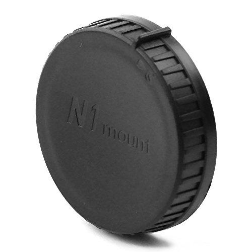 Tapa objetivo trasera compatible con Nikon 1 Nikkor AW 10mm 2.8, Nikkor VR 10-100mm 1:4.5-5.6, VR 10-30mm f/3.5-5.6, VR 70-300mm f/4.5-5.6, 30-110mm f/3.8-5.6, Nikkor AW 10mm 2.8, Bayoneta Cubierta Protectora Nikon 1 Mount