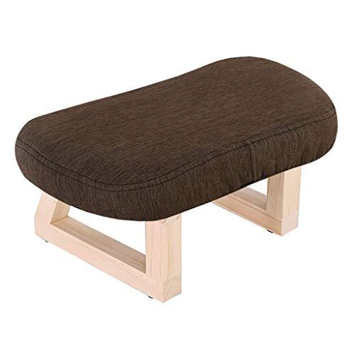 LH Massief houten Make-up Ottoman kruk voetsteun voetsteun poef verandering schoen kruk anti-slip creative-low stoel bank gestoffeerde kruk voor kinderen en volwassenen