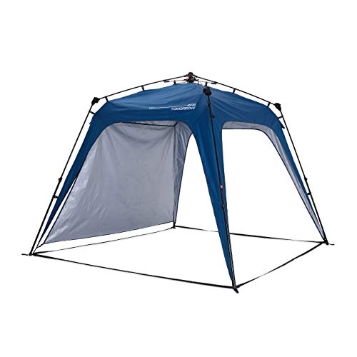 Lumaland Where Tomorrow Pop Up Gazebo with 1x Sidewall - Large Event Pavilion - Festival Party Tent - Standing Height 1.9 m - Waterproof Gazebo with UV+50 Protection - Blue